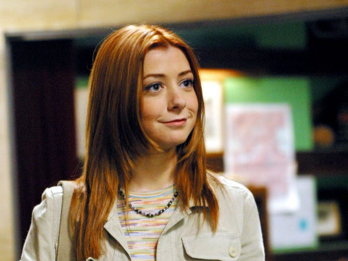 "ANGEL (Season 4)""Orpheus"" (Episode # 415)Image # AG415-0179Pictured: Alyson Hannigan as Willow Rosenberg Photo Credit: ' The WB / Justin Lubin"