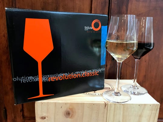 Affordable wine glasses from Stolzle have a contemporary shape.