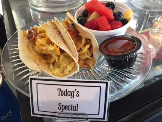 Dockside Deli serves up a wide variety of options to get your day started such as this daily special of breakfast tacos.