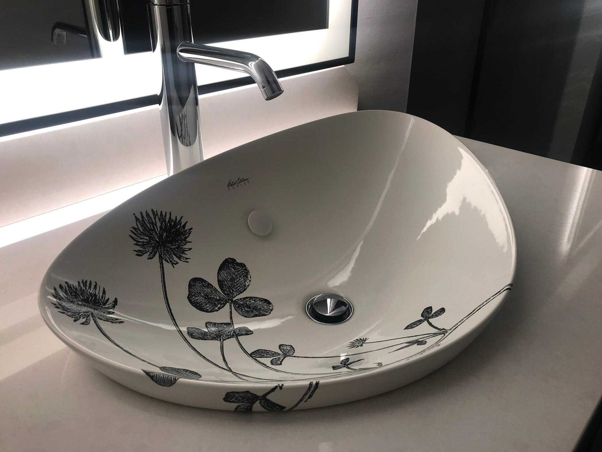 Marcus Hotels worked with the Kohler Co. to create sinks with designs by local artists.