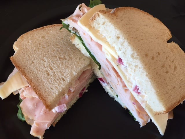 The Harbormaster is the most popular sandwich at Dockside Deli and is served on sourdough bread with smoked turkey, Harvati cheese, dill shallot mayo and lettuce.