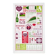 This wine-themed tea towel is packed with useful information.