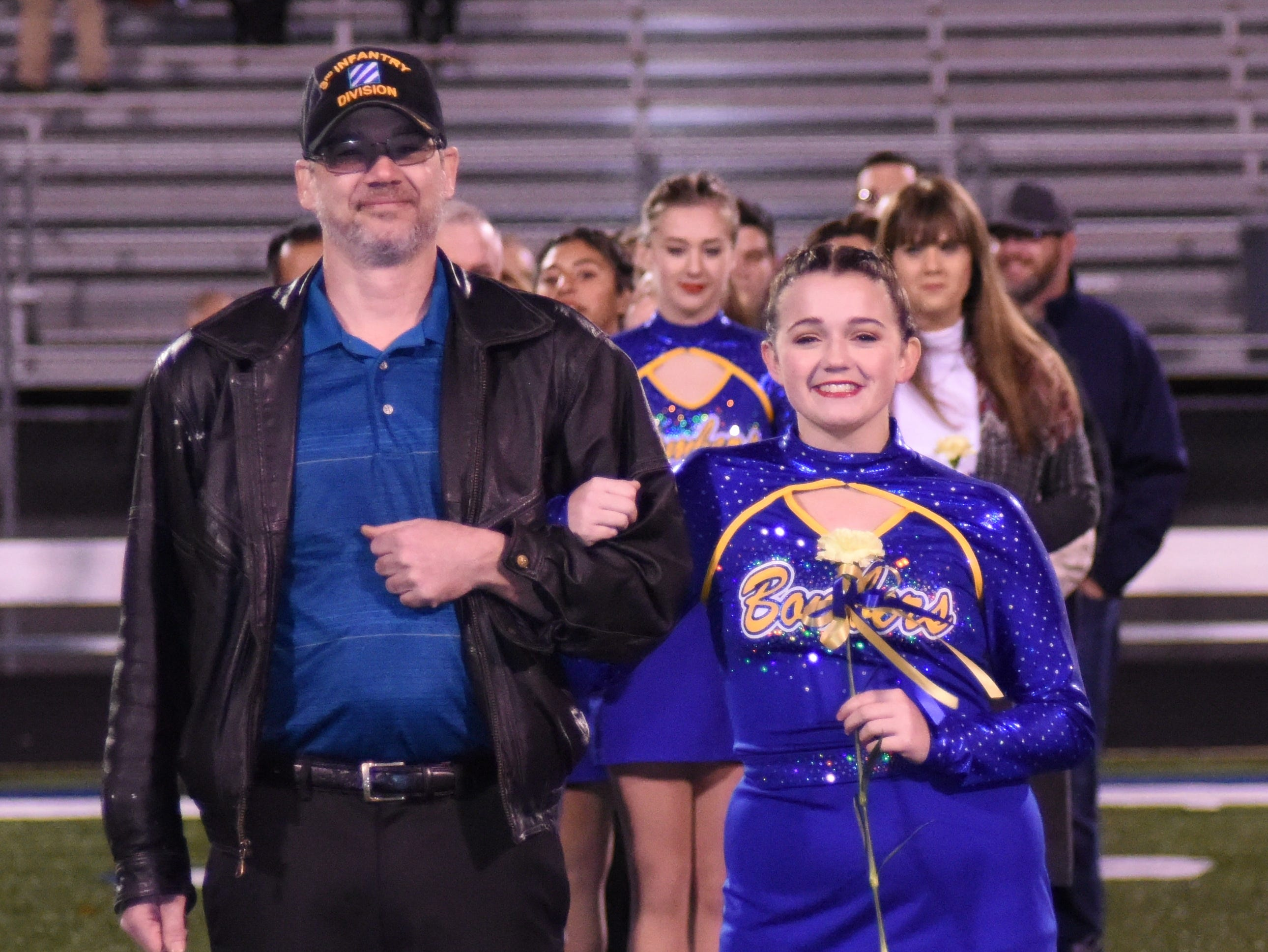 Haley Cornwall and her father, Christopher Cornwall.