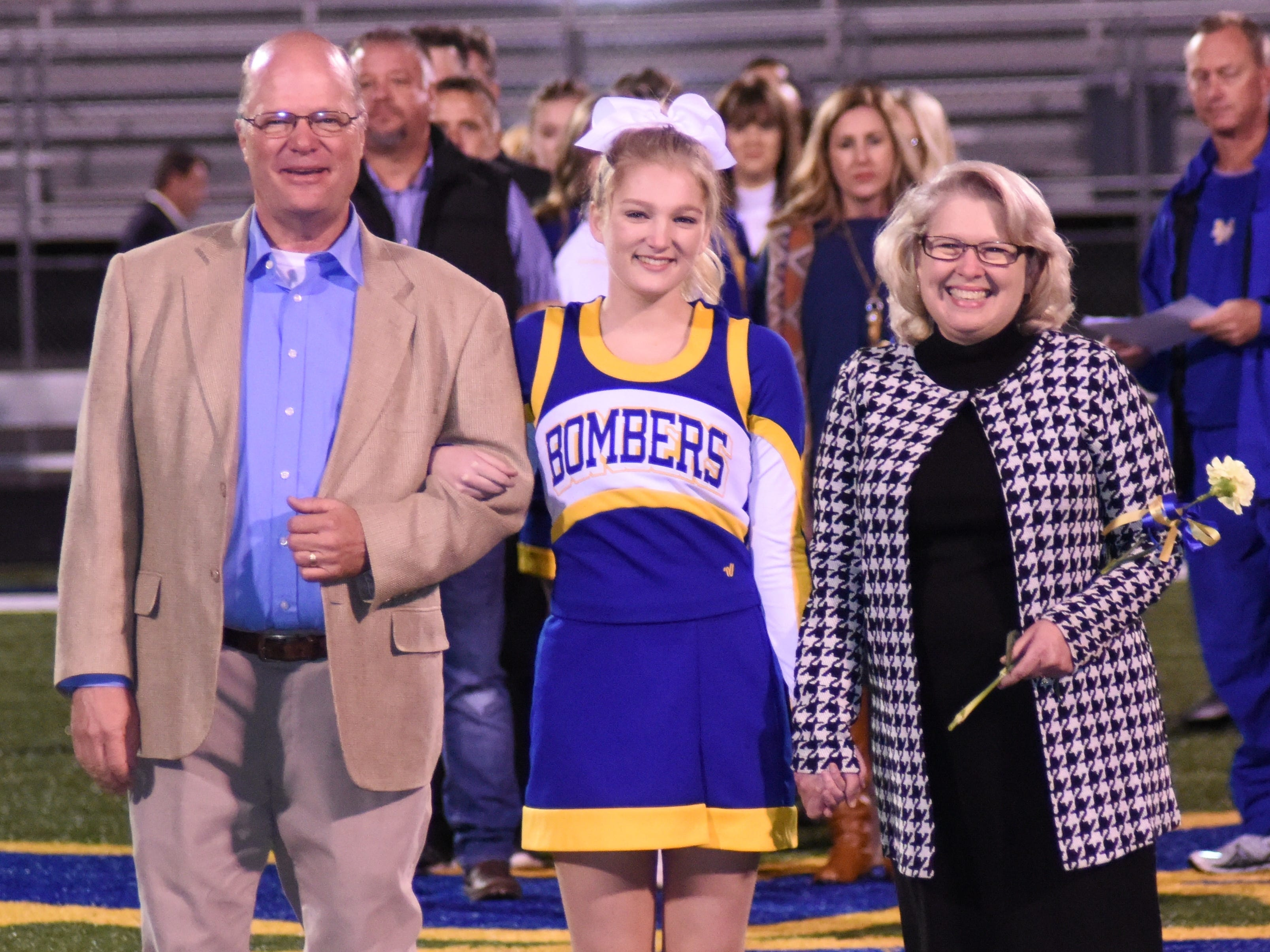Maddy Goeke and her parents, Joe and Tammy Goeke.