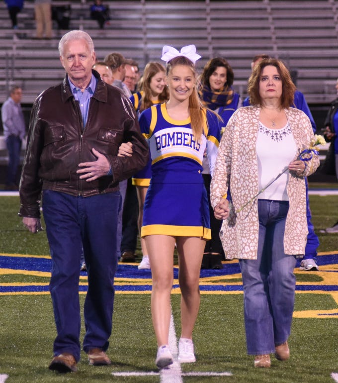 Savannah Barron and her parents, Jerry and Dona Barron.