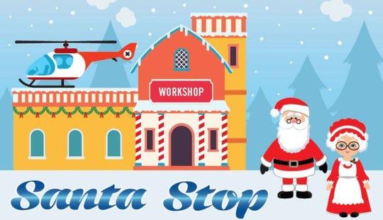 Santa Stop is Saturday.