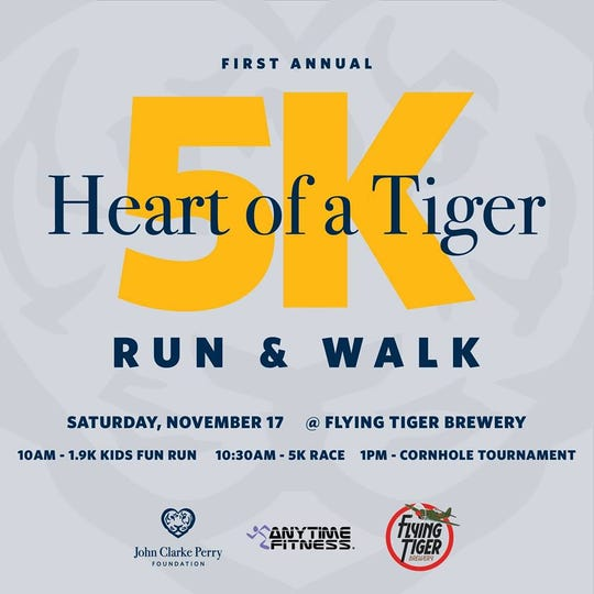 The inaugural Heart of a Tiger 5K is Saturday.