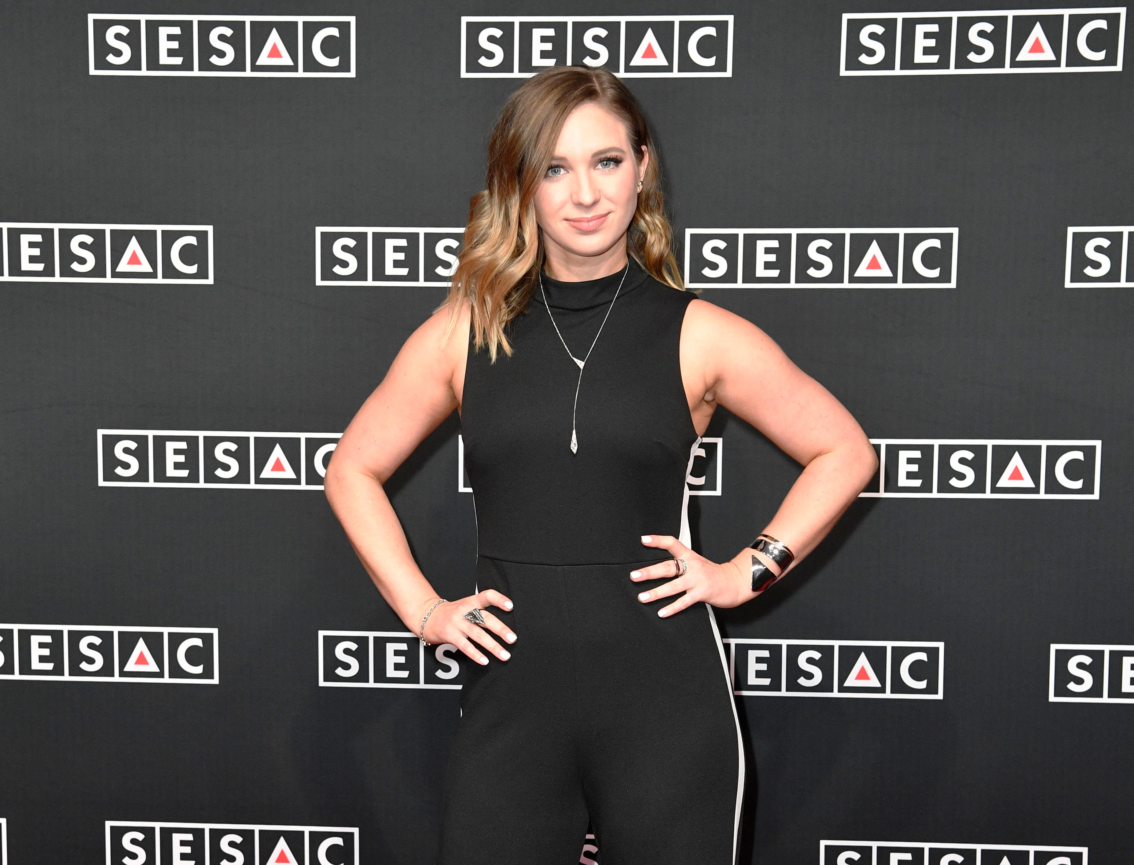 Olivia Lane on the red carpet at the SESAC Nashville Music Awards at the Country Music Hall of Fame and Museum Sunday Nov. 11, 2018, in Nashville, Tenn.