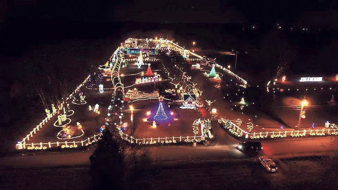 A view of Chad's Winter Wonderland in 2016.