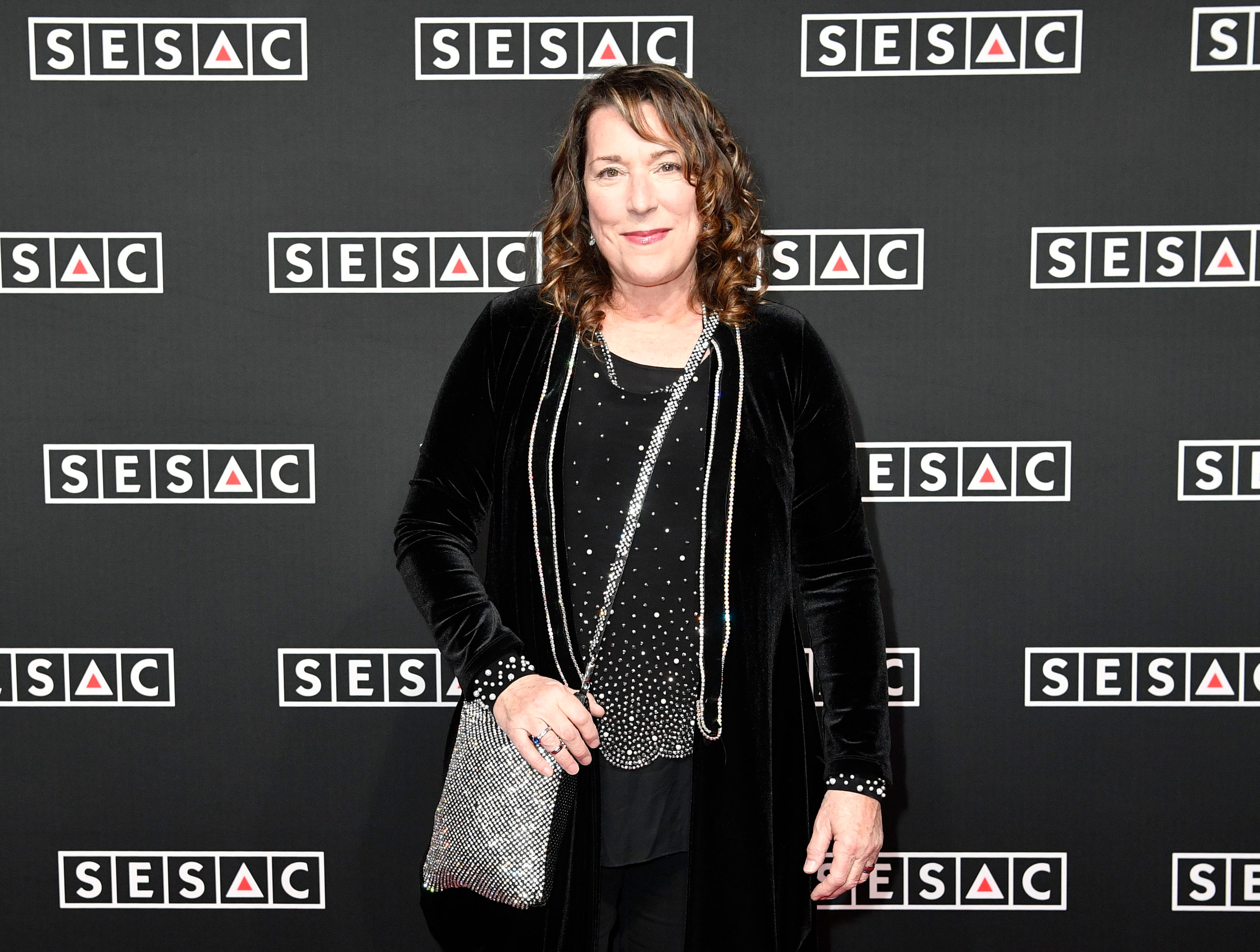 Beth Nielson Chapman on the red carpet at the SESAC Nashville Music Awards at the Country Music Hall of Fame and Museum Sunday Nov. 11, 2018, in Nashville, Tenn.