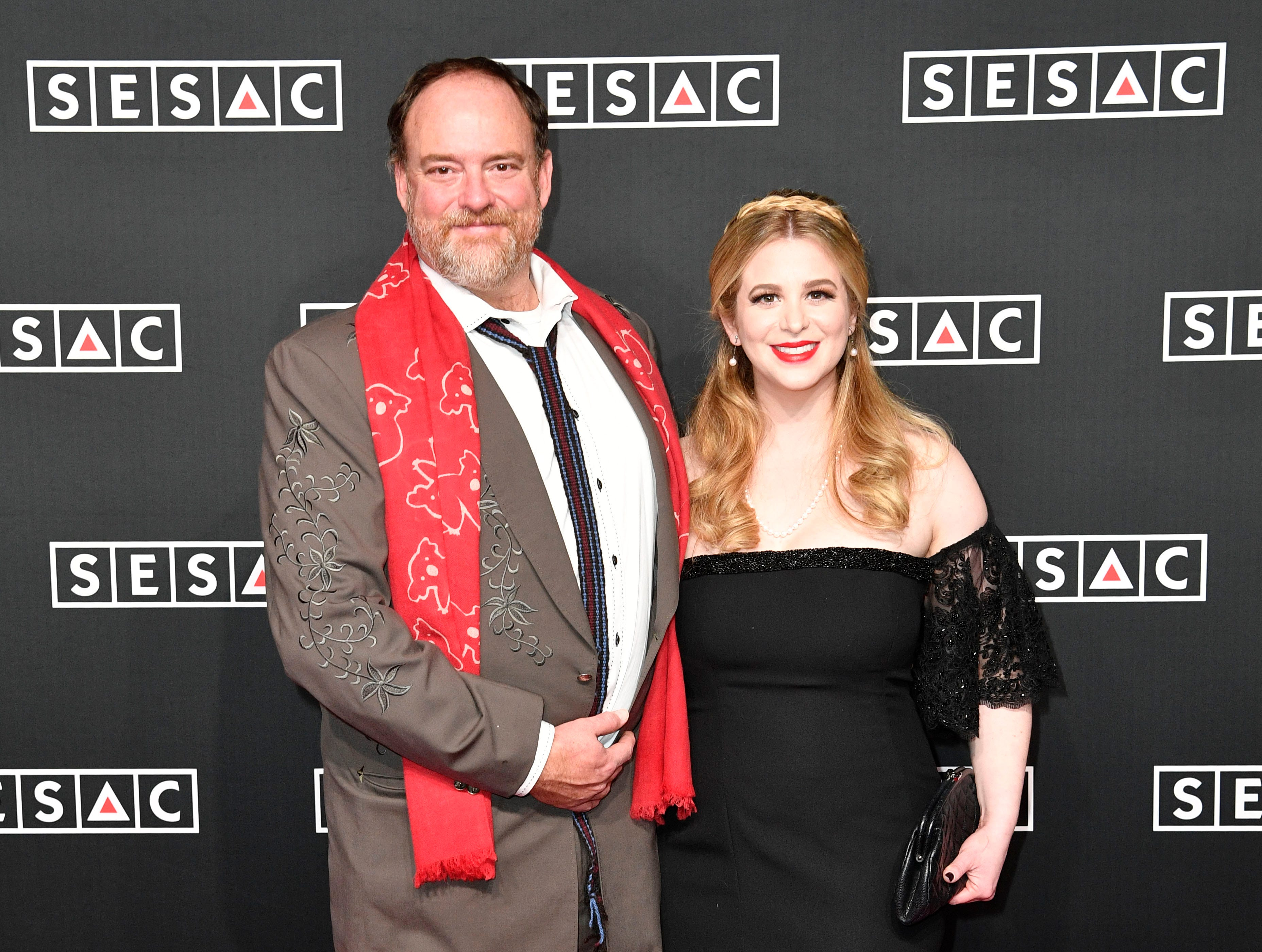 John Carter Cast and Ana Christina Cash on the red carpet at the SESAC Nashville Music Awards at the Country Music Hall of Fame and Museum Sunday Nov. 11, 2018, in Nashville, Tenn.