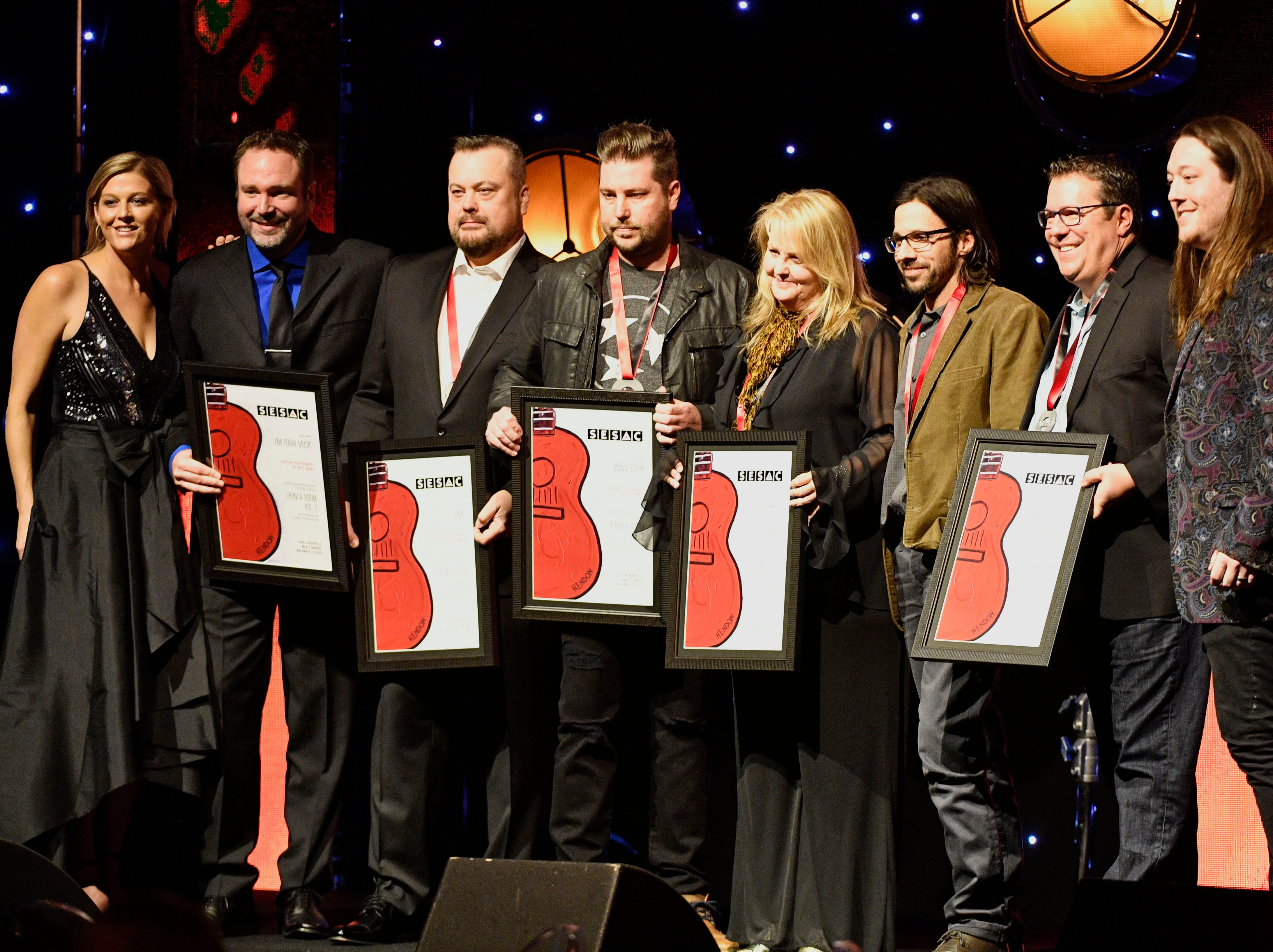 FROM A ROOM VOL. 2contributions by:Kevin Welch, Brice Long, Jaron Boyerpublished by:Send ME the Checks Music, Spur 66 Music, Universal Tunes, EMI Foray Music, BMGrecorded by:Chris Stapleton at the SESAC Nashville Music Awards at the Country Music Hall of Fame and Museum Sunday Nov. 11, 2018, in Nashville, Tenn.