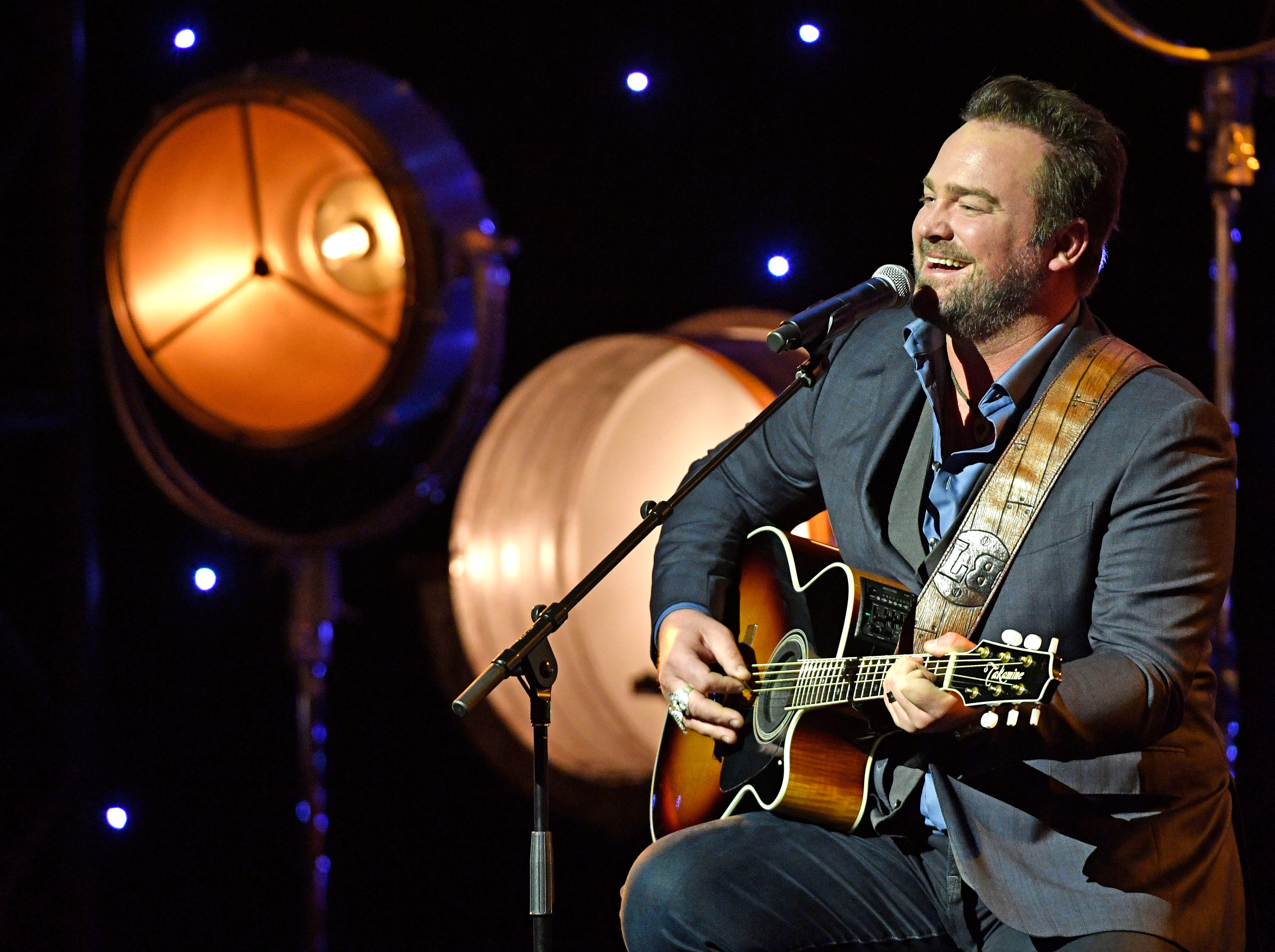 """Lee Brice also performed his 2013 CMA Song of the Year """"I Drive Your Truck"""" in honor of Veteran's Day at the SESAC Nashville Music Awards at the Country Music Hall of Fame and Museum Sunday Nov. 11, 2018, in Nashville, Tenn."""