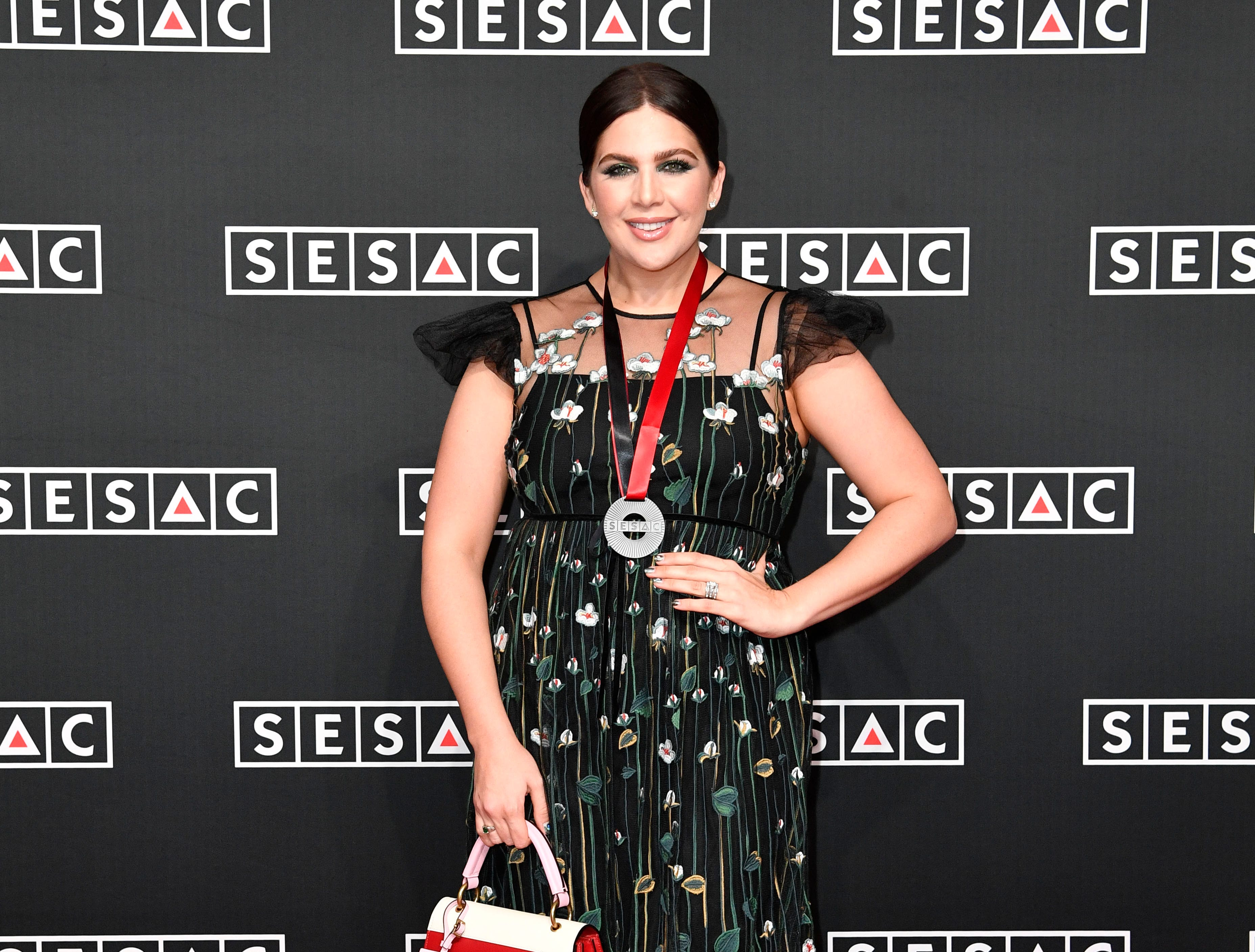 Hillary Scott on the red carpet at the SESAC Nashville Music Awards at the Country Music Hall of Fame and Museum Sunday Nov. 11, 2018, in Nashville, Tenn.