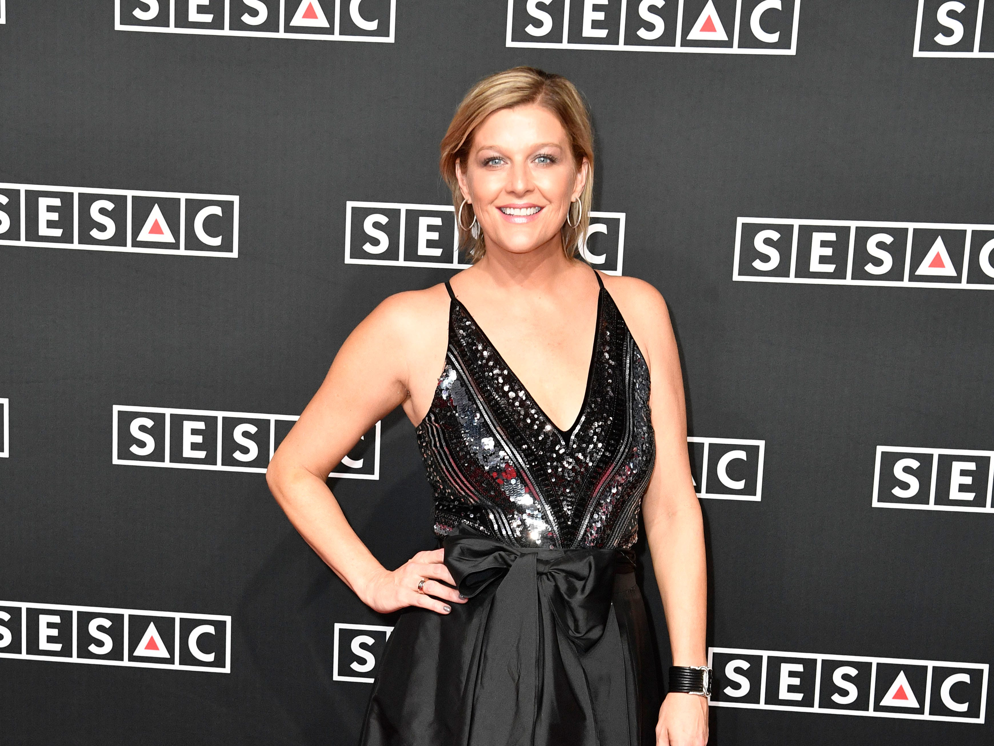 Shannan Hatch on the red carpet at the SESAC Nashville Music Awards at the Country Music Hall of Fame and Museum Sunday Nov. 11, 2018, in Nashville, Tenn.