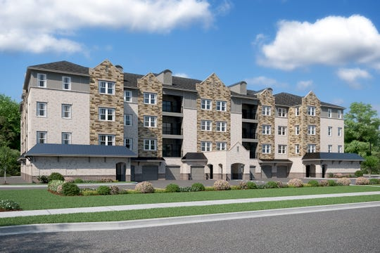 Gatherings at Indian Lake will be a development of 54 condominium flats in two four-story buildings. Beazer Homes has developed similar condos in several other states.
