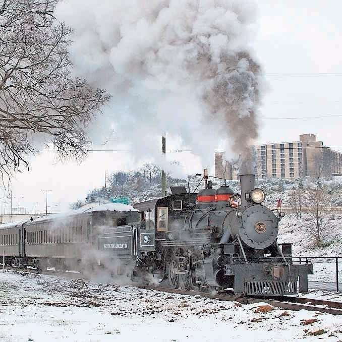 The Three Rivers Rambler in Knoxville runs the Christmas Lantern Express during the holiday season.