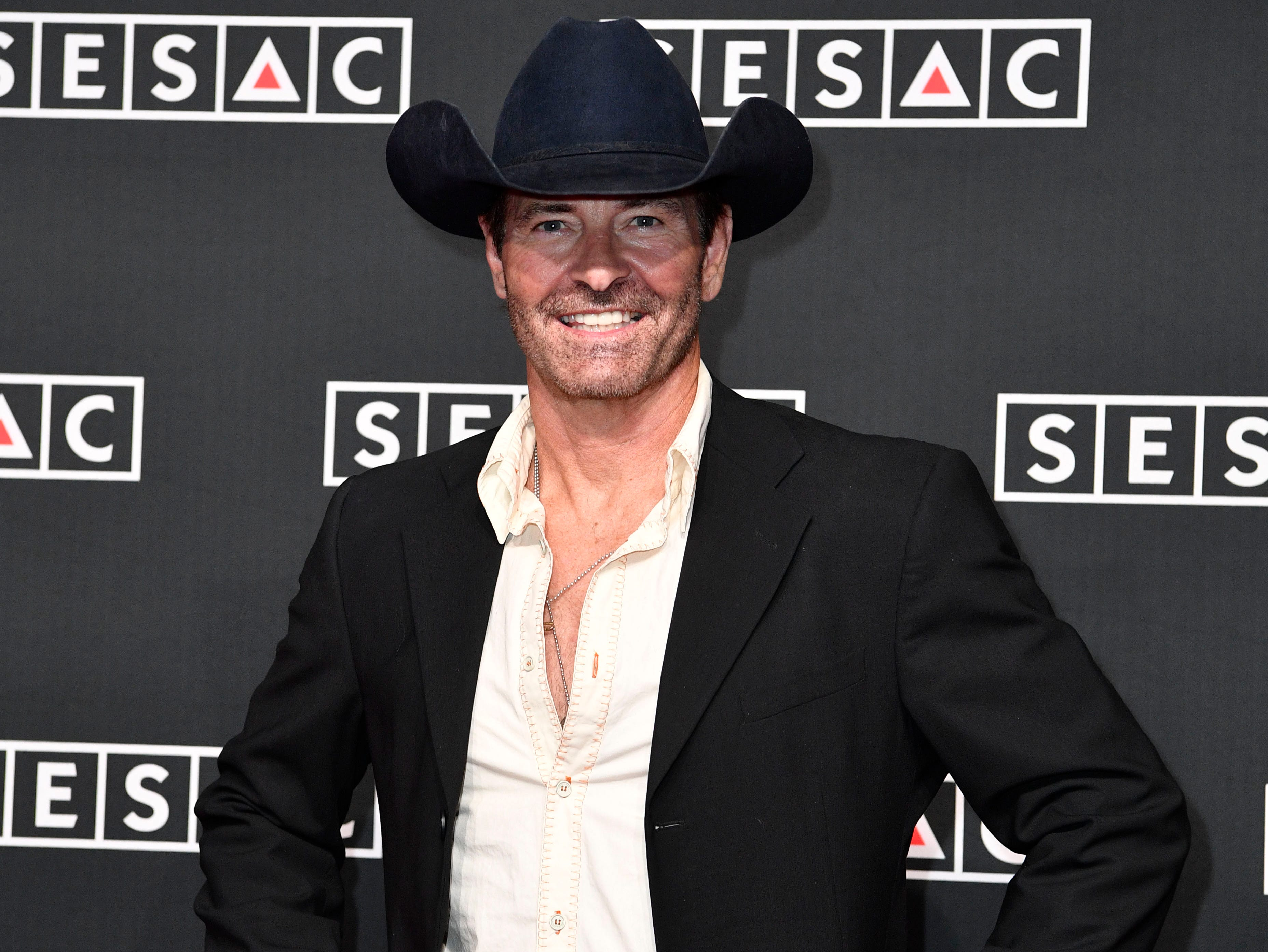 Keith Burns on the red carpet at the SESAC Nashville Music Awards at the Country Music Hall of Fame and Museum Sunday Nov. 11, 2018, in Nashville, Tenn.