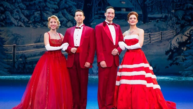 """Kerry Conte, left,  Jeremy Benton, Sean Montgomery and Kelly Sheehan in """"Irving Berlin's White Christmas,"""" showing at TPAC. Nov. 16-18."""