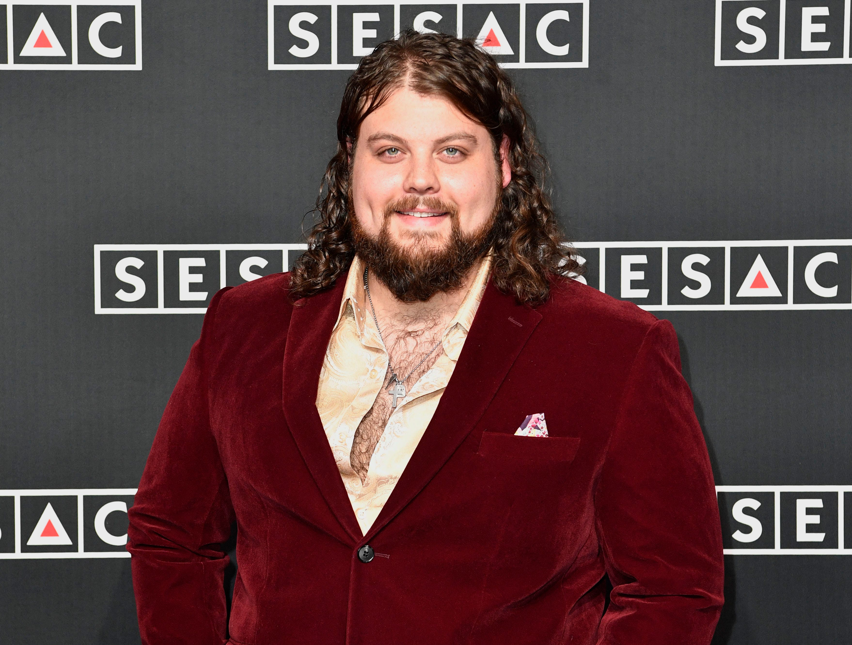 Dillon Carmichael on the red carpet at the SESAC Nashville Music Awards at the Country Music Hall of Fame and Museum Sunday Nov. 11, 2018, in Nashville, Tenn.