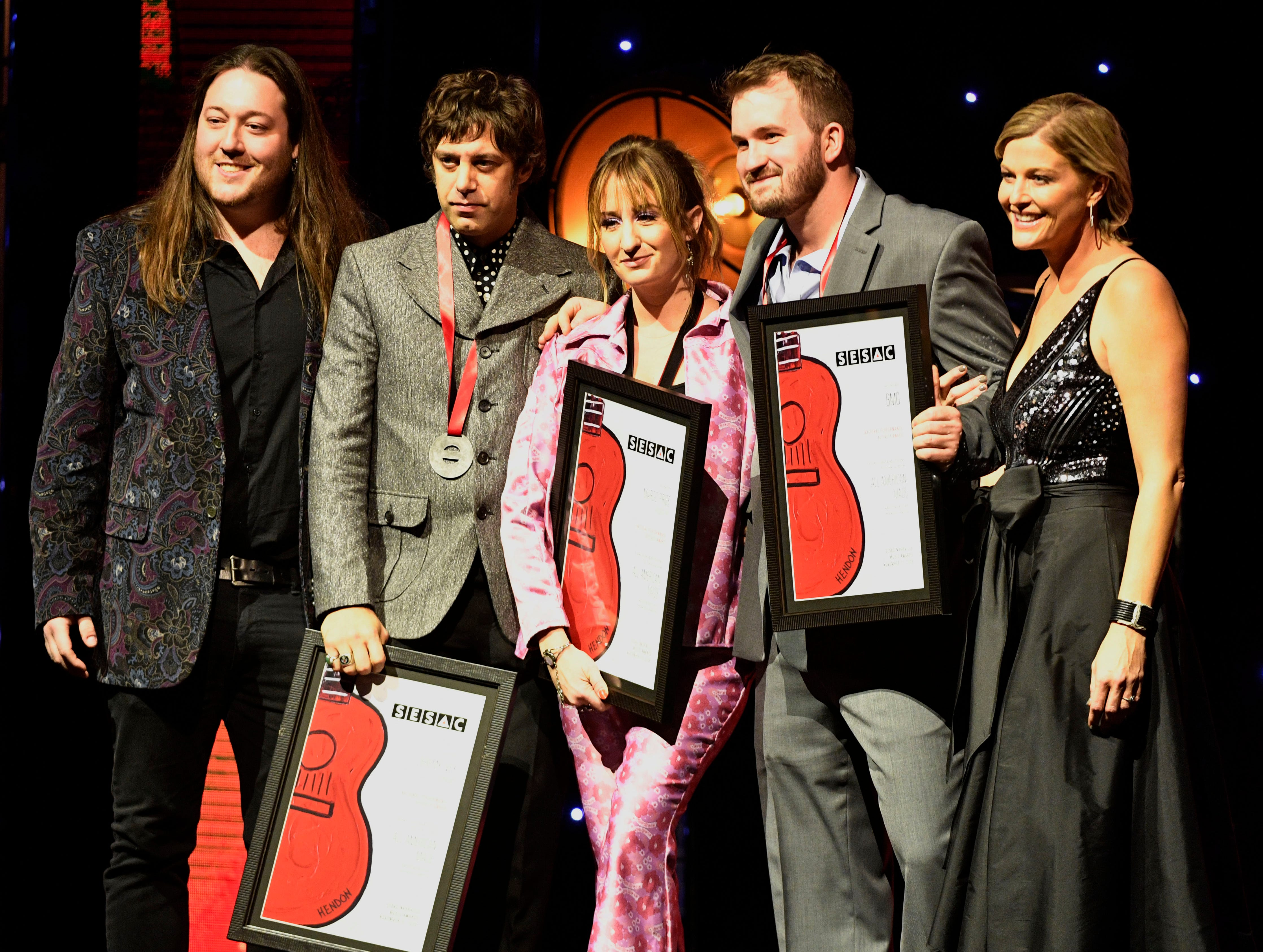 ALL AMERICAN MADEcontributions by:Margo Price, Jeremy Iveypublished by: BMG, Peach Pit, Fisheyerecorded by:Margo Price at the SESAC Nashville Music Awards at the Country Music Hall of Fame and Museum Sunday Nov. 11, 2018, in Nashville, Tenn.