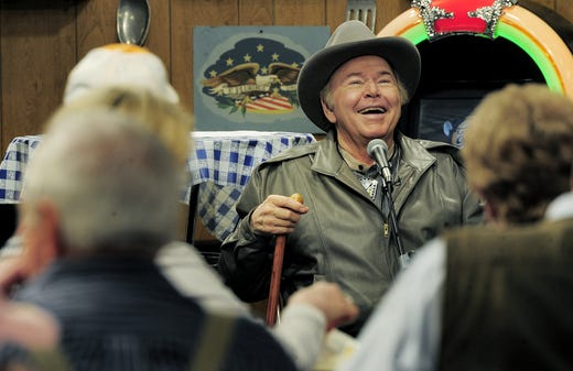 "Roy Clark laughs with the audience of ""Larry's Country Diner"" during a taping session at NorthStar studios Feb. 4, 2013."