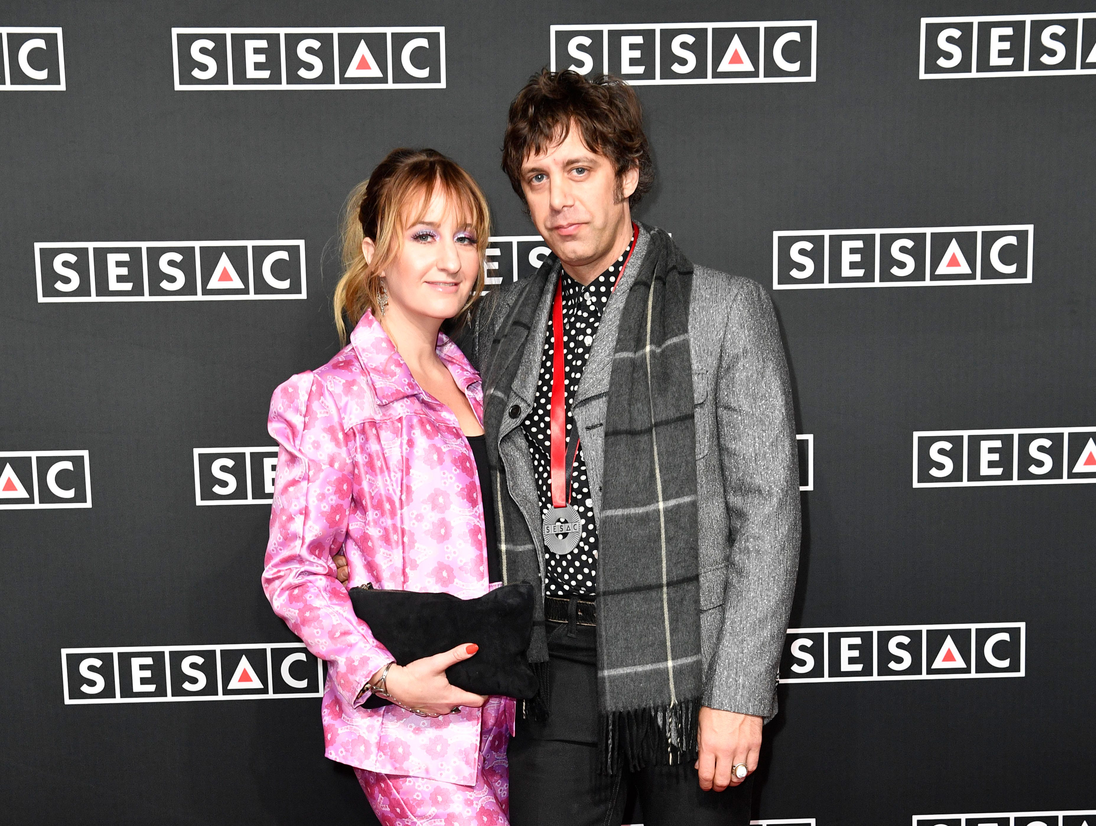 Margo Price and Jeremy Ivey on the red carpet at the SESAC Nashville Music Awards at the Country Music Hall of Fame and Museum Sunday Nov. 11, 2018, in Nashville, Tenn.