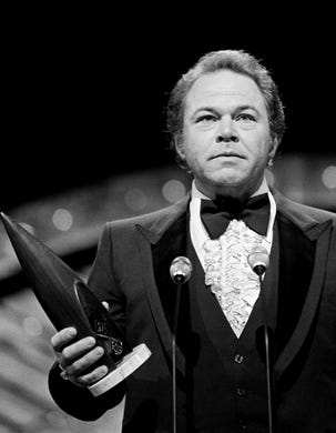 "Popular ""Hee Haw"" star Roy Clark repeats as the Instrumentalist of the Year winner during the 12th annual CMA Awards show at the Grand Ole Opry on Oct. 9, 1978."