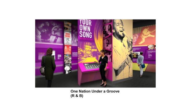 """""""One Nation Under a Groove"""" rhythm and blues gallery at The National Museum of African American Music"""