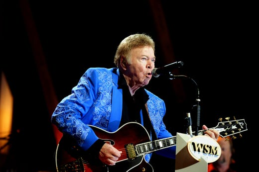 Roy Clark performs during the 85th birthday celebration of the Grand Ole Opry on Oct. 9, 2010.