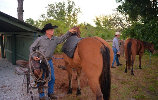 Clint Raulerson at Roberts Ranch in Immokalee last year.