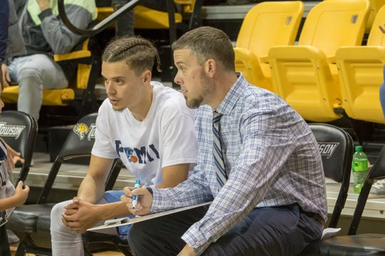 Wesley head coach Dean Burrows is part of a Southwest Florida connection at the small Delaware college. South Fort Myers graduate Brandon Lewis, Lehigh's Moe Goin and Golden Gate's Derick Charles also players on the team.