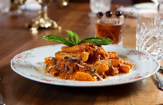 Rigatoni at the newly renovated Pazzo! Cucina Italiano on Fifth Avenue South in downtown Naples.