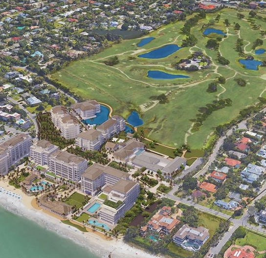 Plans unveiled to tear down Naples Beach Hotel, redevelop resort, add condo towers