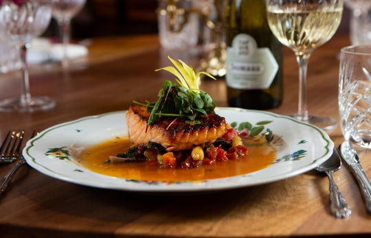 Seared salmon at the newly renovated Pazzo! Cucina Italiano on Fifth Avenue South in downtown Naples.