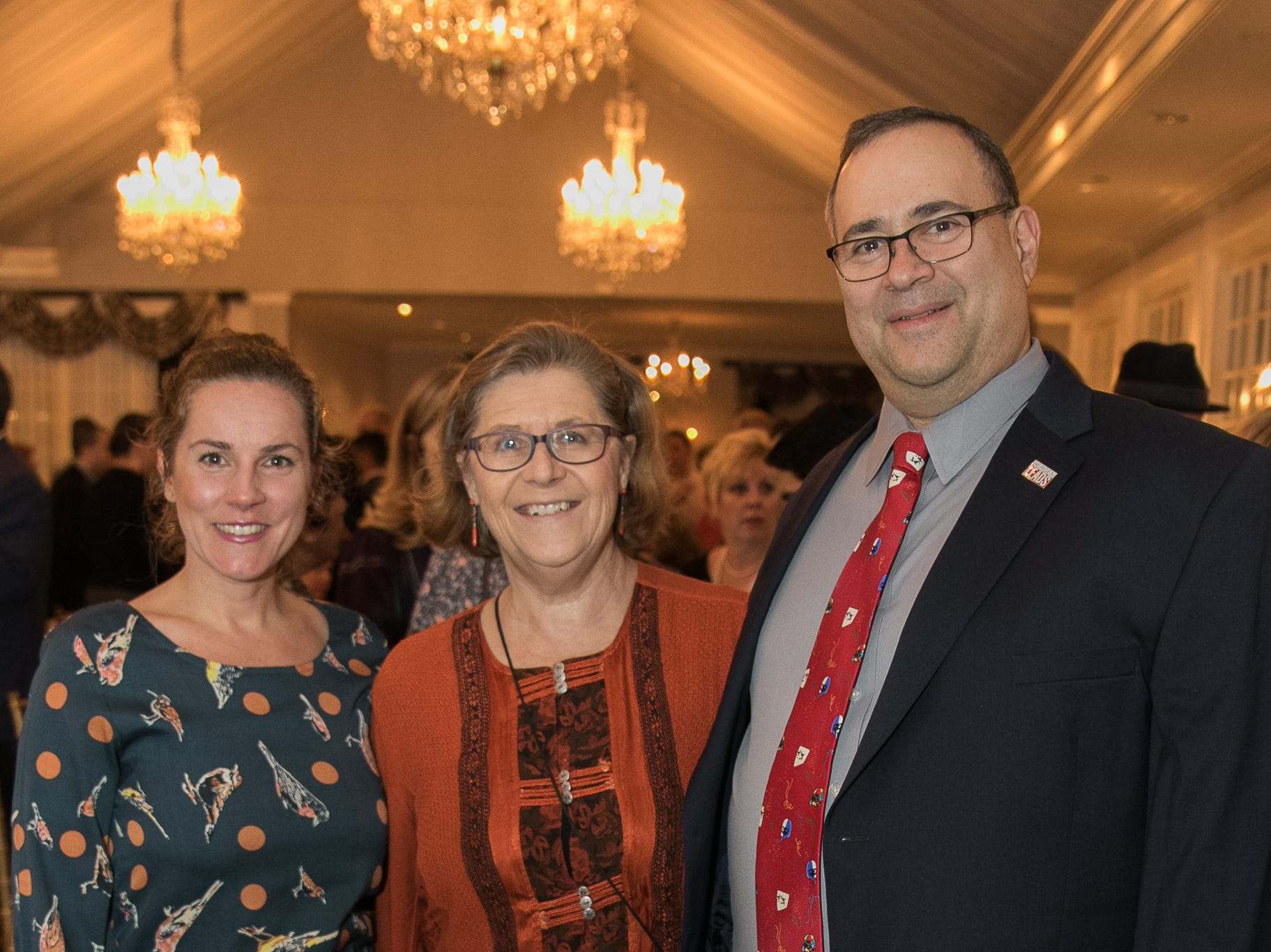 Jennifer Zack, Glenda and David Haas. The Bergen Volunteer Center celebrated its 10th anniversary of the Bergen LEADS program at The Hearts of Gold Dinner and Auction at the Stony Hill Inn in Hackensack. 11/08/2018