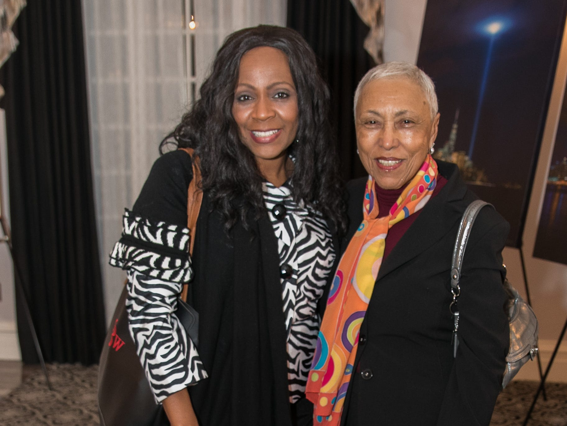 Theresa Brown, Sandra Jackson. The Bergen Volunteer Center celebrated its 10th anniversary of the Bergen LEADS program at The Hearts of Gold Dinner and Auction at the Stony Hill Inn in Hackensack. 11/08/2018