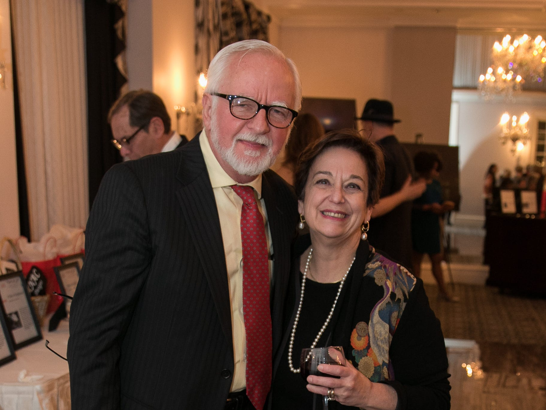 Hans Lehmann, Jan Philips. The Bergen Volunteer Center celebrated its 10th anniversary of the Bergen LEADS program at The Hearts of Gold Dinner and Auction at the Stony Hill Inn in Hackensack. 11/08/2018