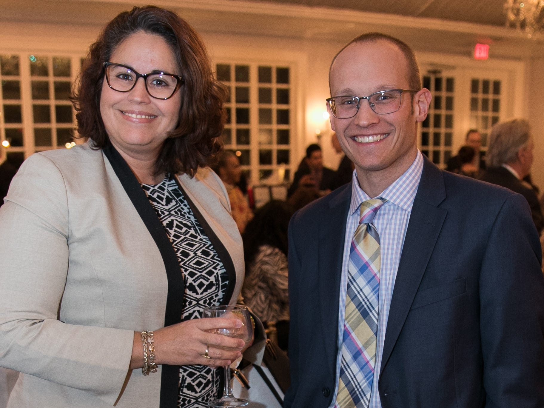 Mayda Gonzalez-Bosch, Larry Hlavenka. The Bergen Volunteer Center celebrated its 10th anniversary of the Bergen LEADS program at The Hearts of Gold Dinner and Auction at the Stony Hill Inn in Hackensack. 11/08/2018