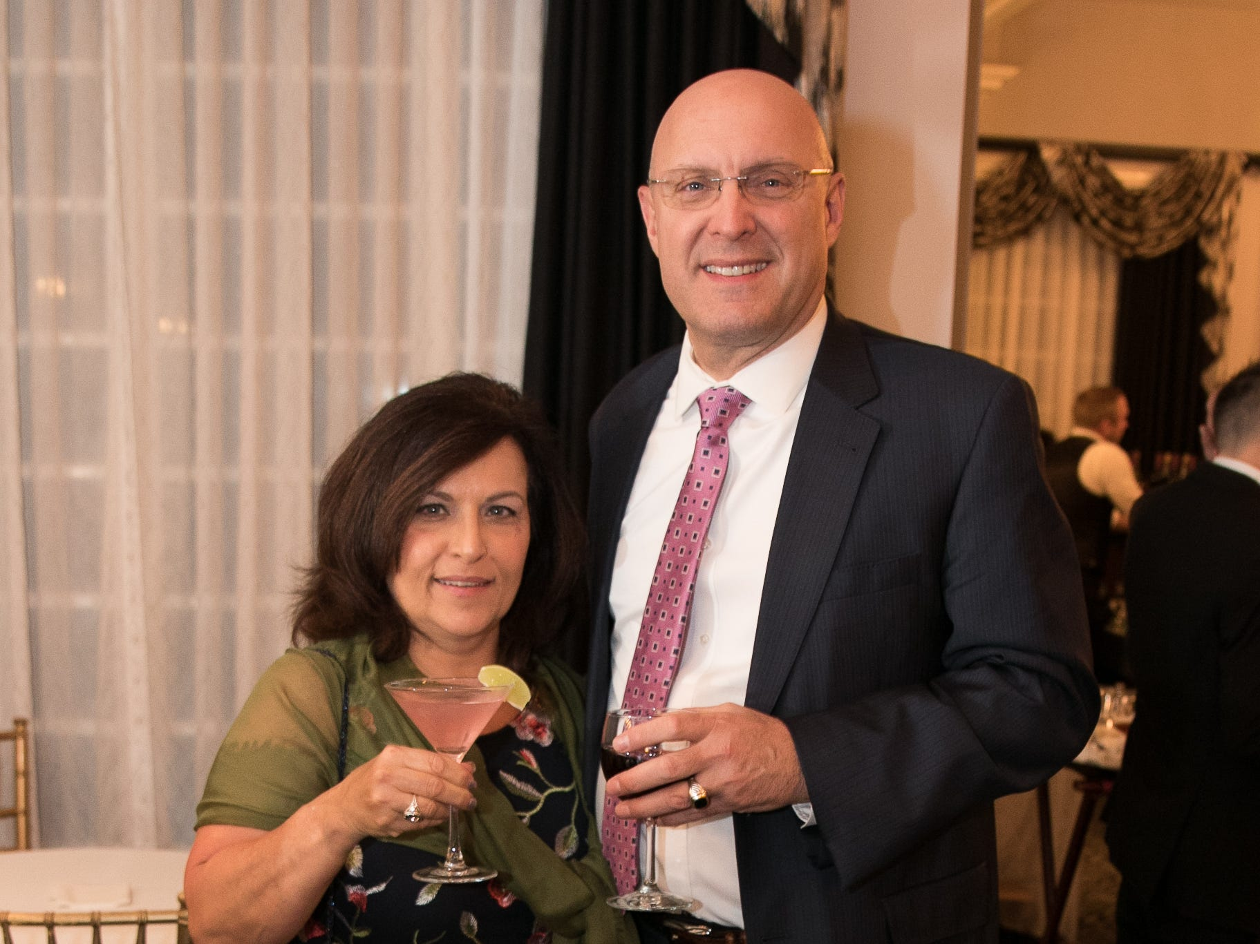 Anne Marino, Vincent Blazewicz. The Bergen Volunteer Center celebrated its 10th anniversary of the Bergen LEADS program at The Hearts of Gold Dinner and Auction at the Stony Hill Inn in Hackensack. 11/08/2018