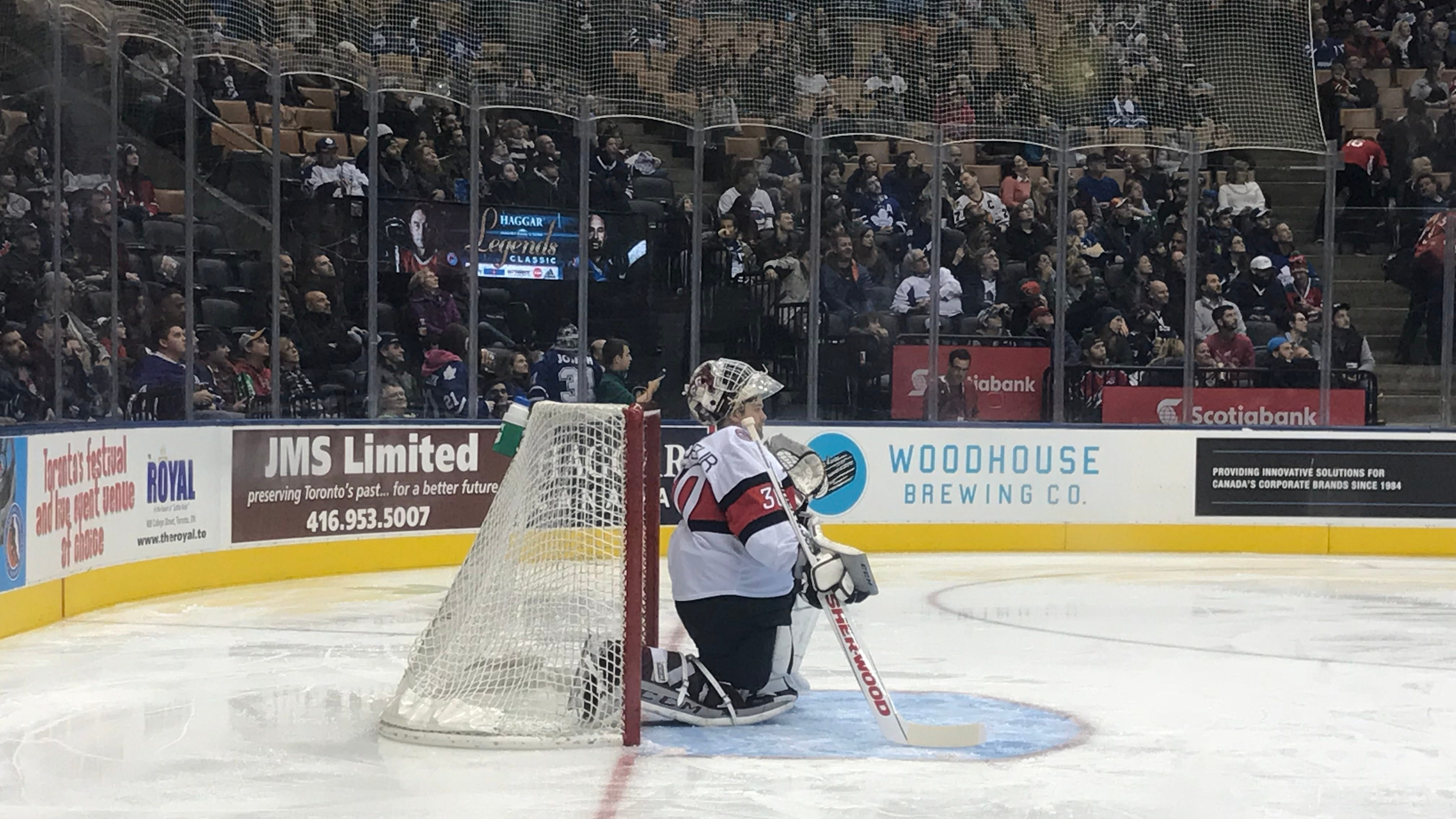 Martin Brodeur's son Anthony takes his place in...