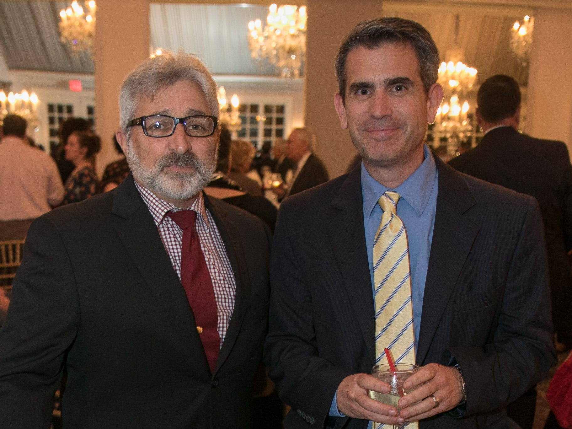 Joe Cicchelli, Al Dib. The Bergen Volunteer Center celebrated its 10th anniversary of the Bergen LEADS program at The Hearts of Gold Dinner and Auction at the Stony Hill Inn in Hackensack. 11/08/2018