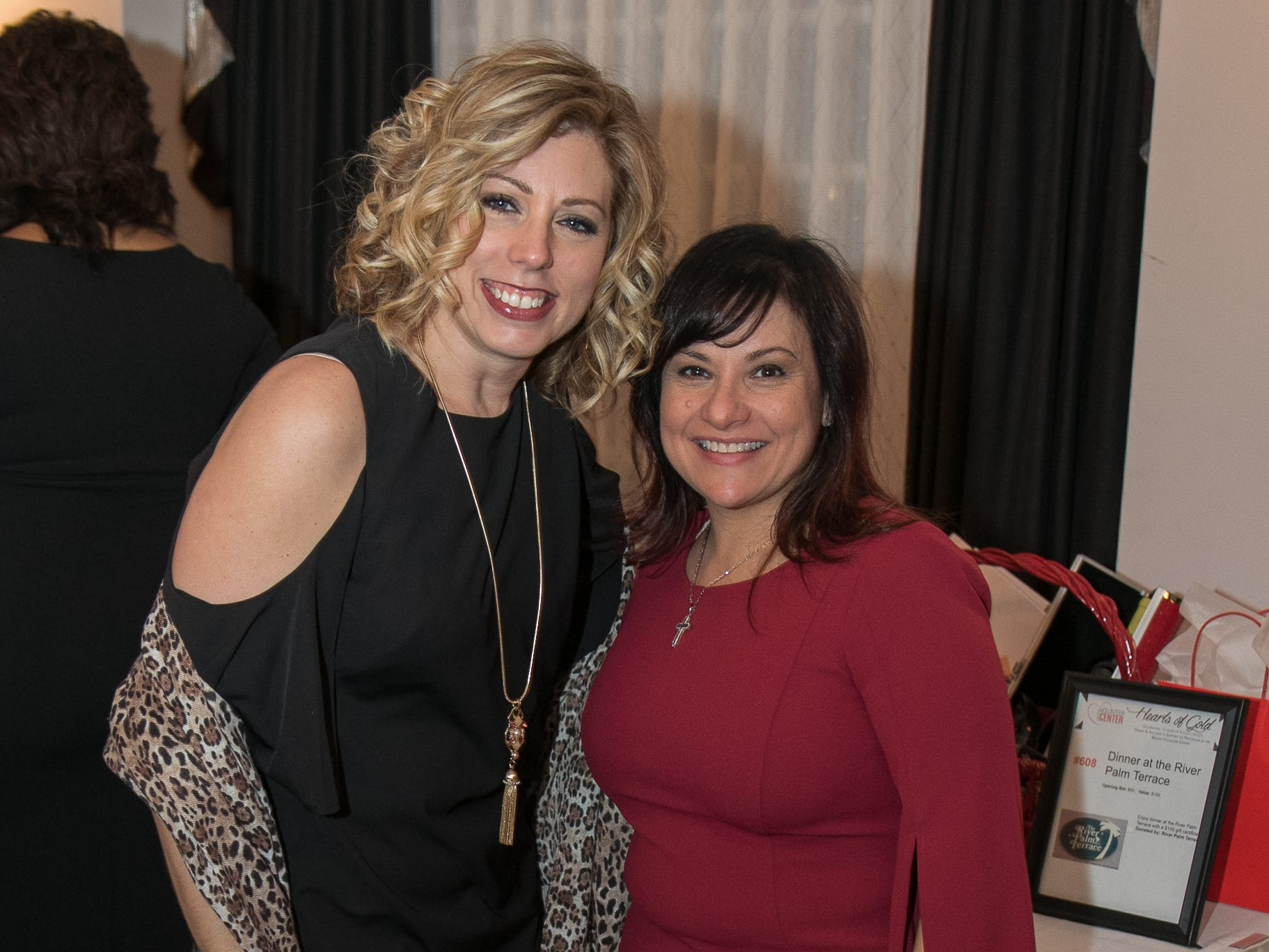 Christine Pollinger, Rosemary Klie. The Bergen Volunteer Center celebrated its 10th anniversary of the Bergen LEADS program at The Hearts of Gold Dinner and Auction at the Stony Hill Inn in Hackensack. 11/08/2018