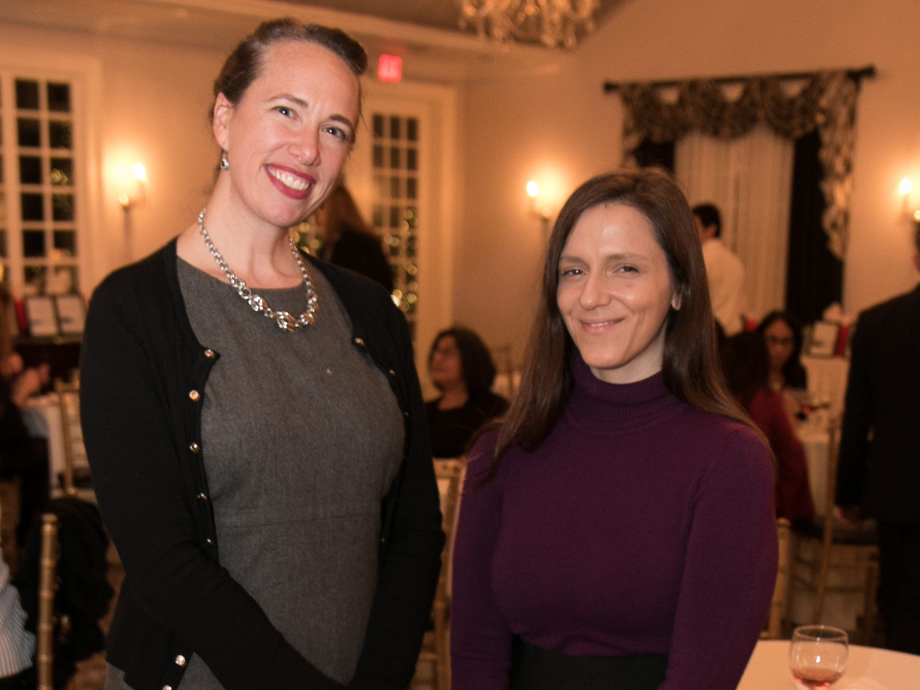 Kimberly Malone, Ramya Elsaleh. The Bergen Volunteer Center celebrated its 10th anniversary of the Bergen LEADS program at The Hearts of Gold Dinner and Auction at the Stony Hill Inn in Hackensack. 11/08/2018