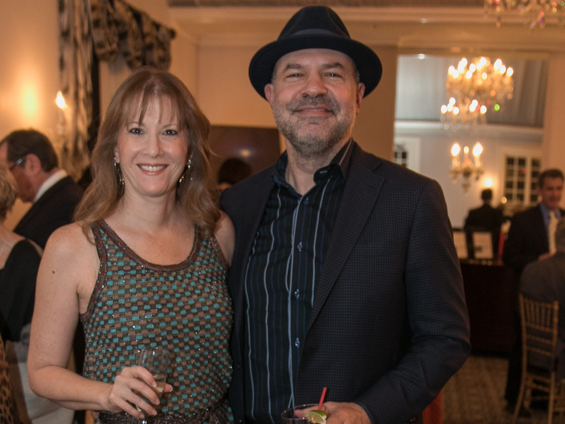 Robin and David Dubin. The Bergen Volunteer Center celebrated its 10th anniversary of the Bergen LEADS program at The Hearts of Gold Dinner and Auction at the Stony Hill Inn in Hackensack. 11/08/2018