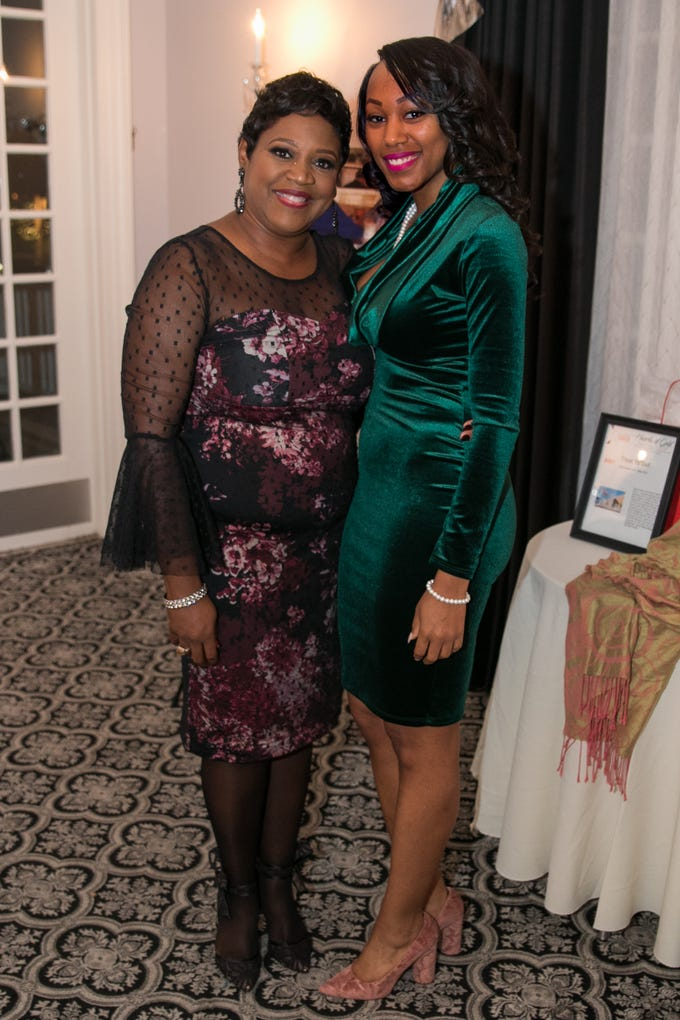 Honoree- Joy Dorsey-Whiting, Tanayah Bruce. The Bergen Volunteer Center celebrated its 10th anniversary of the Bergen LEADS program at The Hearts of Gold Dinner and Auction at the Stony Hill Inn in Hackensack. 11/08/2018