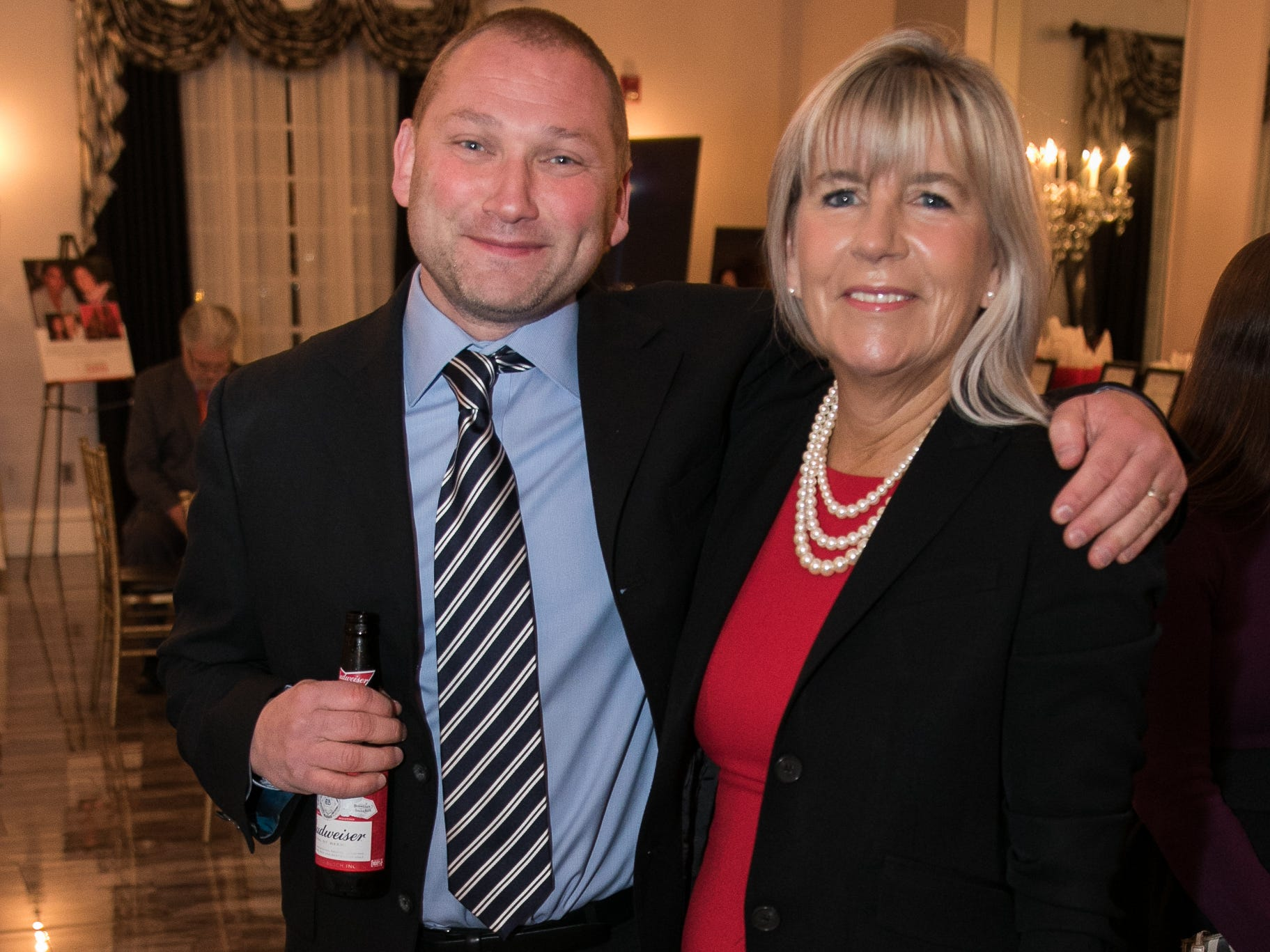 Larry Goldstein, Lynda Wolf. The Bergen Volunteer Center celebrated its 10th anniversary of the Bergen LEADS program at The Hearts of Gold Dinner and Auction at the Stony Hill Inn in Hackensack. 11/08/2018