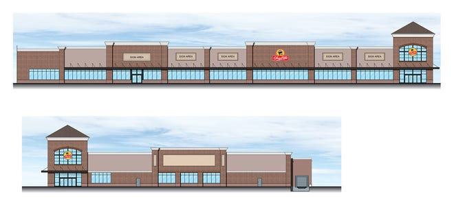 An architect's rendering of the ShopRite supermarket to be built on the footprint of the former Wayne Hills Mall.