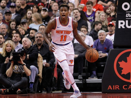 Frank Ntilikina only played six minutes of the Knicks' blowout loss to the Magic Sunday night.