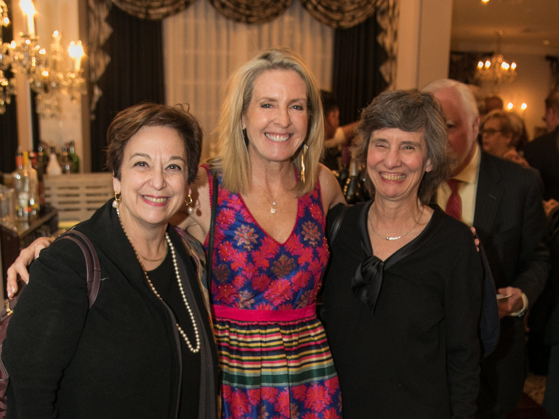 Jan Philips, Gwenn Hauck, Margie Downs. The Bergen Volunteer Center celebrated its 10th anniversary of the Bergen LEADS program at The Hearts of Gold Dinner and Auction at the Stony Hill Inn in Hackensack. 11/08/2018